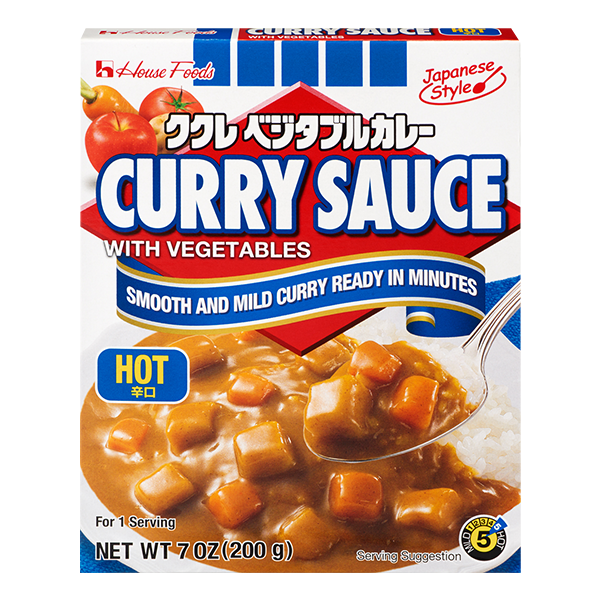 Curry Sauce with Vegetables Hot 7oz