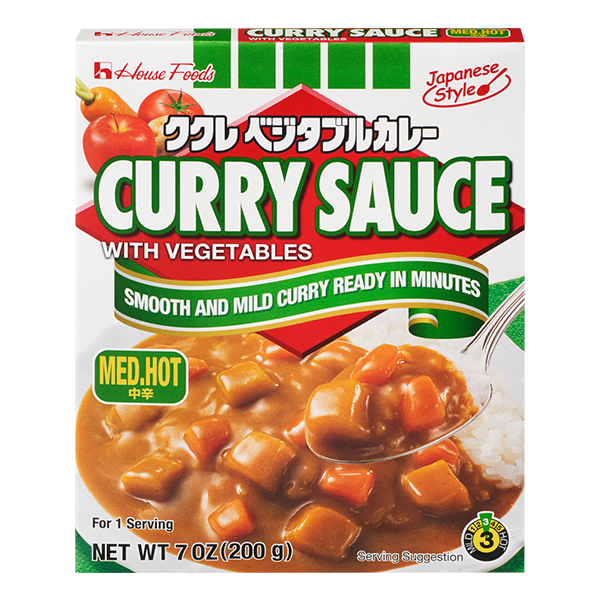 Curry Sauce with Vegetables Medium Hot 7oz
